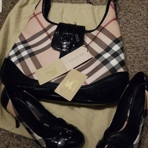 Burberry bag and shoes